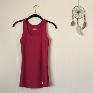 Under Armour Heat Gear Pink Tanktop, Size XS